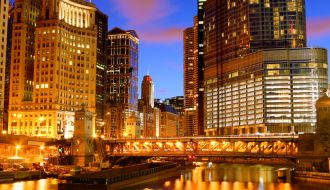 Chicago & Seattle stays with Alaska Cruise & US Rockies Train